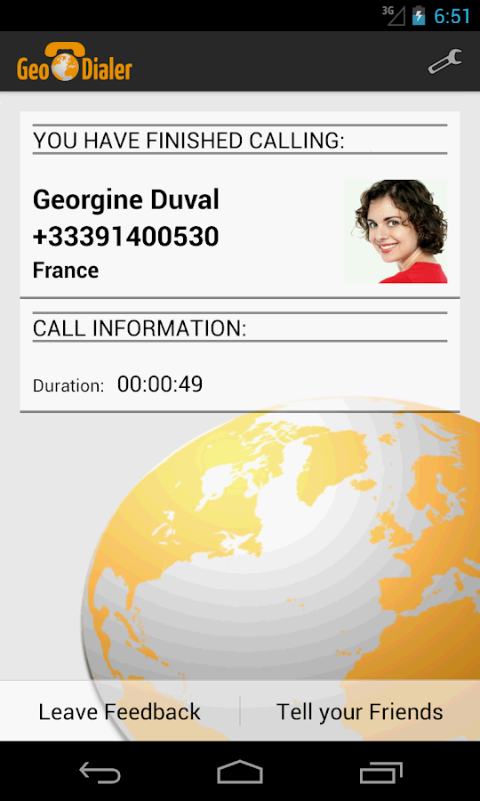 Calling Card GeoDialer+ - screenshot