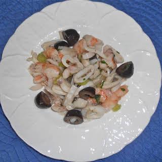 Shrimp and Calamari Salad.