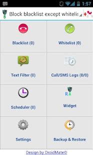 DroidMate Call Filter- screenshot thumbnail