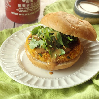Thai Massaman Curry Butternut Burgers with Peanut Sauce