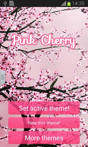 粉紅色的櫻花GO輸入法