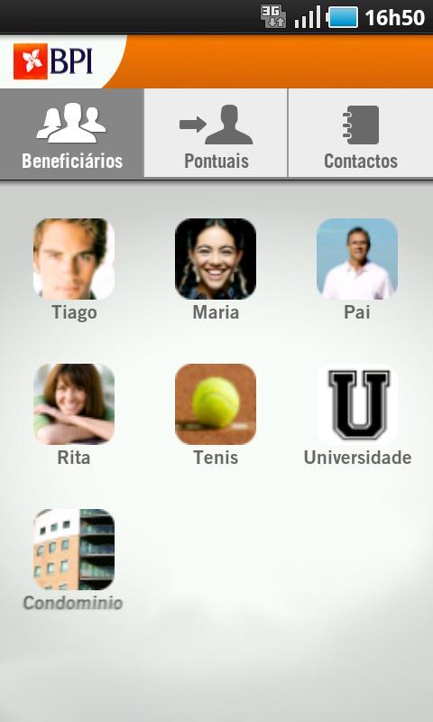 BPI Transferências- screenshot