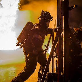 We leave no Men Behind by Daniel Craig Johnson - News & Events Disasters ( firefighter, hero, south africa, firefighters, action, africa, fire, portrait,  )