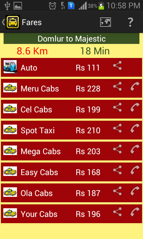 MeterUp! auto cab taxi fare - screenshot