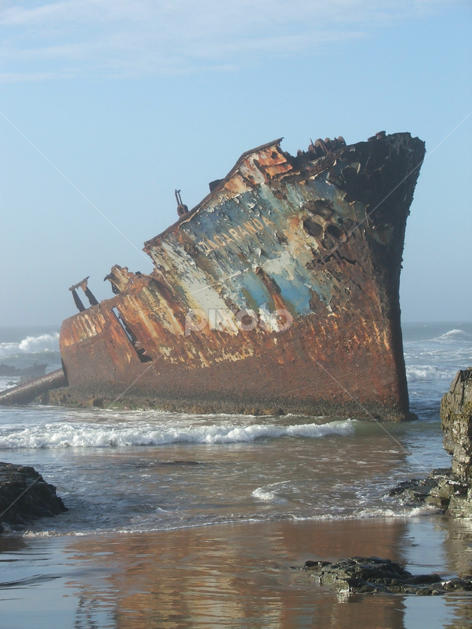 Jakaranda shipwreck by Zerene Lotter Eloff - Transportation Boats (  )