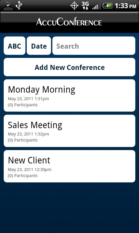 AccuDial - Conference Call - screenshot