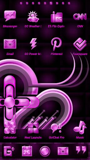 Pink Gloss Go Launcher