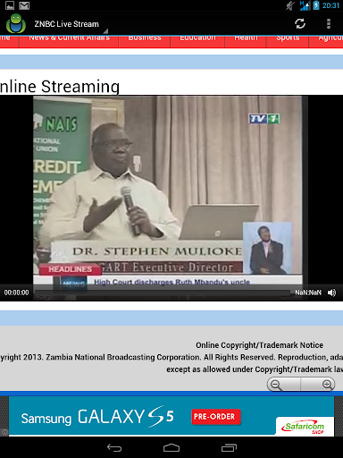 Zambia TV livestream