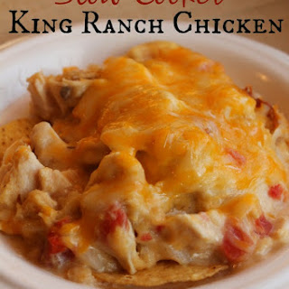 Slow Cooker King Ranch Chicken.