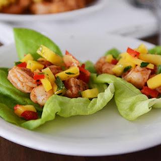 Shrimp and Mango Salsa Lettuce Wraps