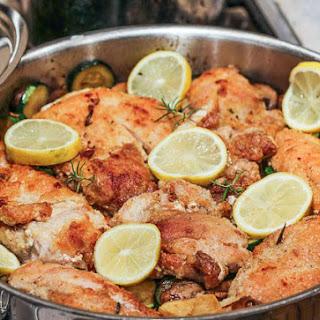 Southern Italian Lemon Chicken with Zucchini and Mushrooms