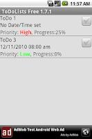 Screenshot of ToDoLists Full