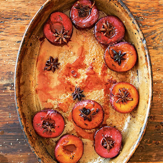 Roasted Spiced Black Plums Recipe