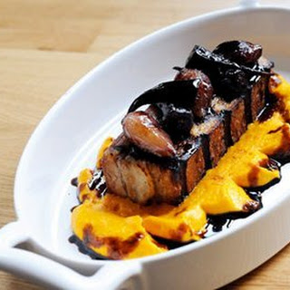 Roast Pork Belly with Anise Carrot PuréE and Balsamic Glazed Carrots Recipe