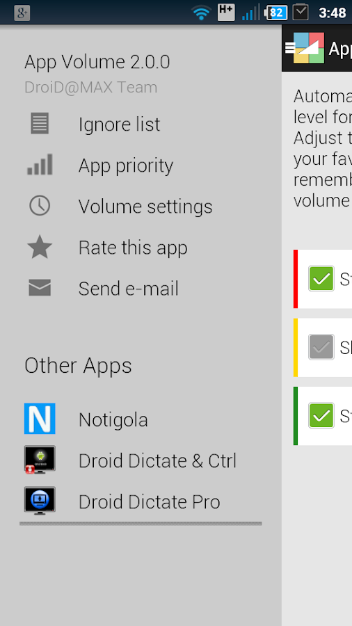 App Volume 2 Control+Scheduler - screenshot