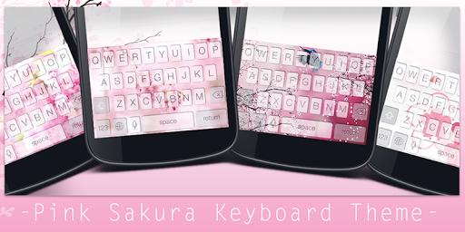 Pink Sakura Keyboard Theme