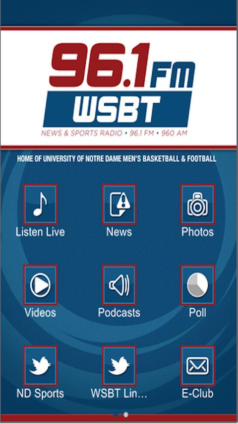 96.1FM 960AM WSBT Talk Radio - screenshot