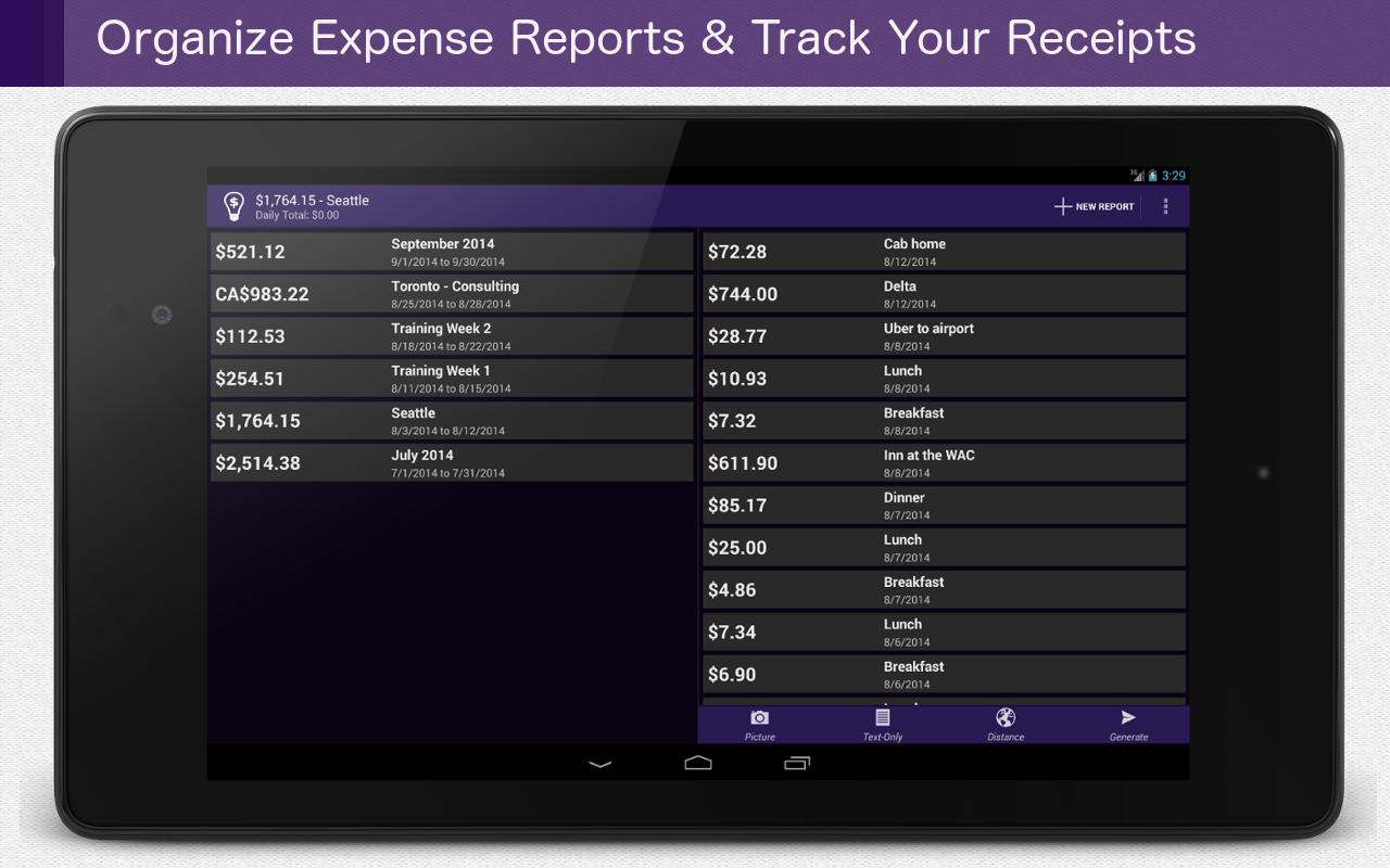 Smart Receipts- screenshot