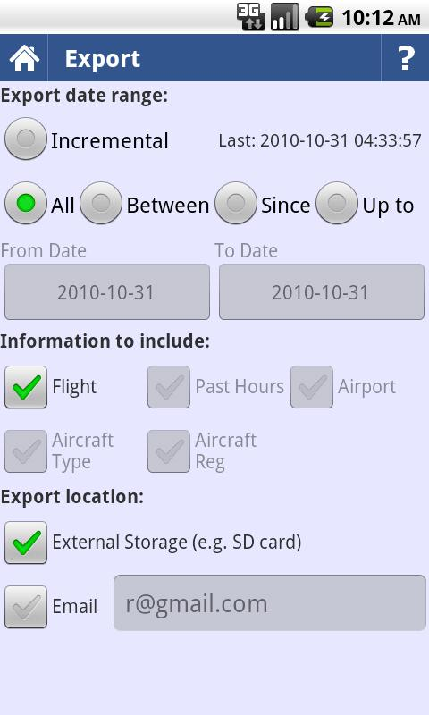 intelliPilot - Pilot LogBook - screenshot