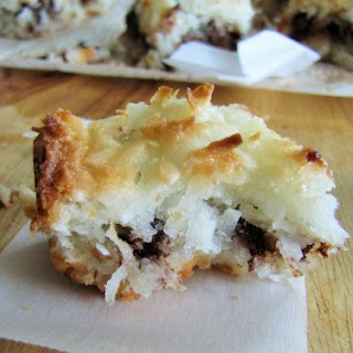 Chocolate and Coconut Macaroon Bars
