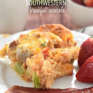 Easy Cheesy Southwestern Breakfast Casserole.