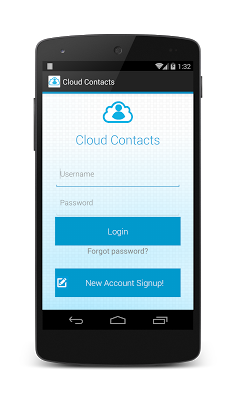 Cloud Contacts - screenshot