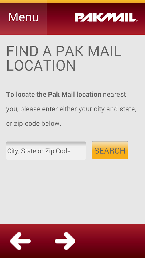 Pak Mail- screenshot