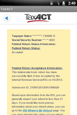TaxACT Central - screenshot