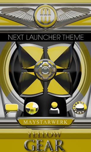 Next Launcher Theme Yellow G