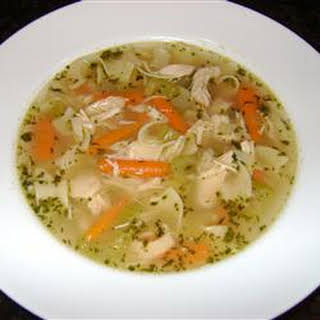 Chicken Soup with Drop-In Noodles.