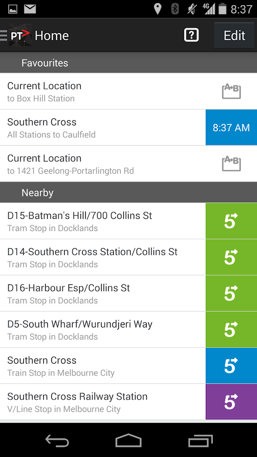 Public Transport Victoria App Android Apps On Google Play