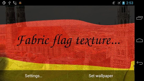 3D Germany Flag Live Wallpaper - screenshot thumbnail