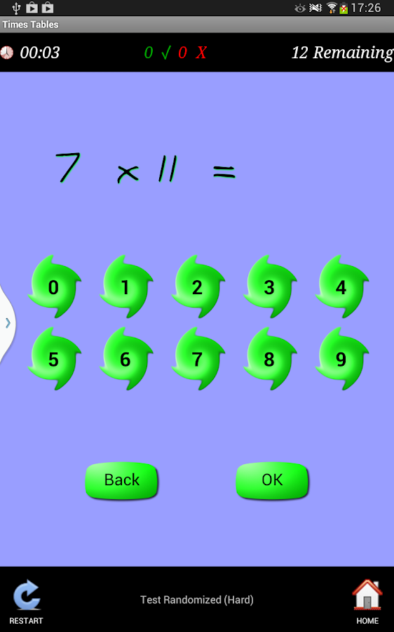 Times Tables Teacher - screenshot