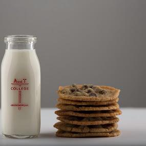 Cookies and Milk by Mark Richardson - Food & Drink Candy & Dessert ( studio, milk, milk bottle, chocolate chip, cookies )