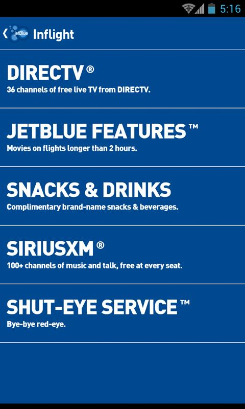 JetBlue - screenshot