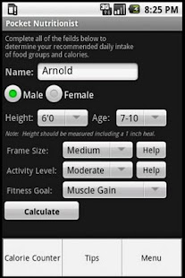 Pocket Nutritionist- screenshot thumbnail