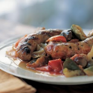 Sausages with Ratatouille