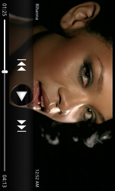 PlayerPro Dark Skin - screenshot