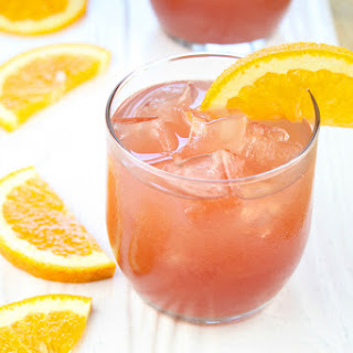 Orange Pomegranate Moscato Cocktail