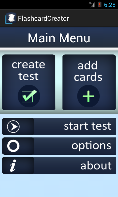 Flashcard Quiz Creator - screenshot