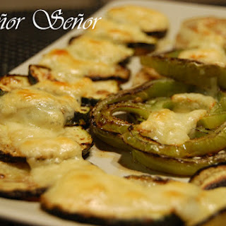 Grilled Vegetables with Emmental Cheese.