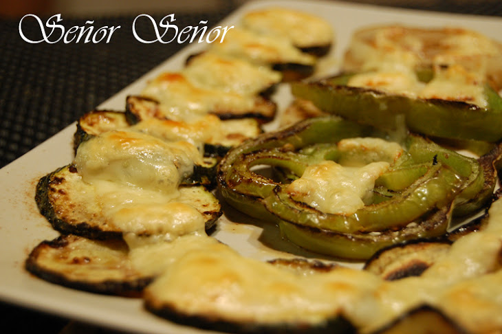 Grilled Vegetables with Emmental Cheese