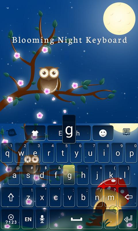 Blooming Night Keyboard Theme- screenshot