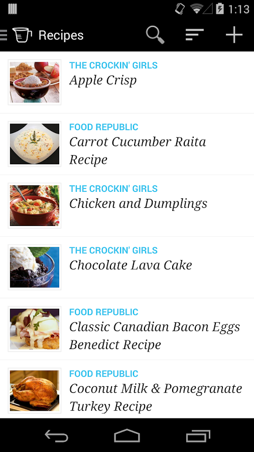 Recipe, Menu & Cooking Planner - screenshot