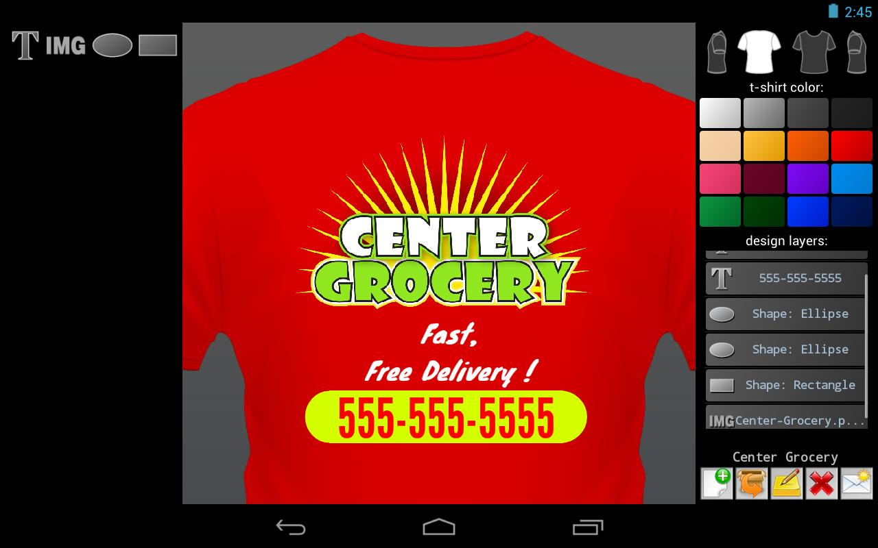 T-shirt Designer - screenshot