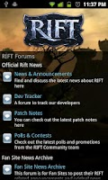 Screenshot of RIFT Forum Browser