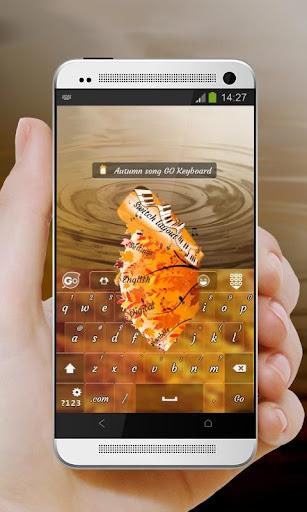 【免費個人化App】秋天的歌 GO Keyboard-APP點子