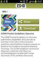 ESMO Cancer Guidelines- screenshot thumbnail
