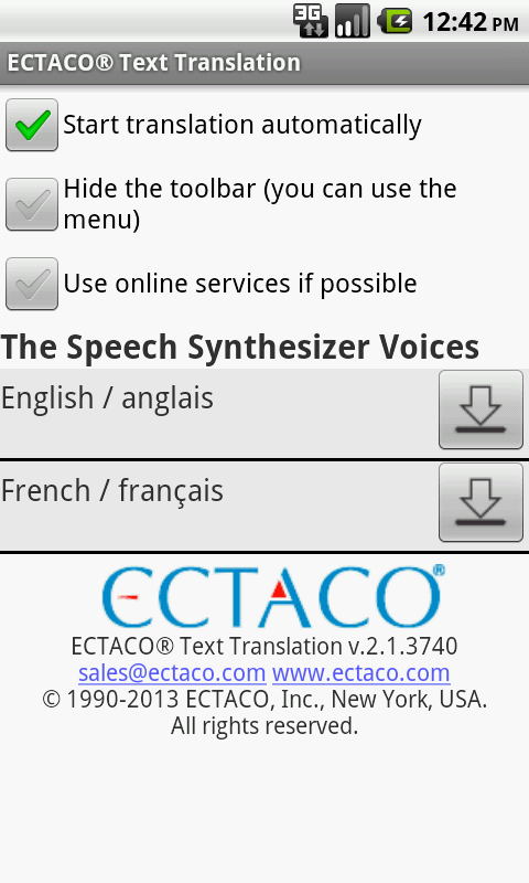 French Offline Translator - screenshot