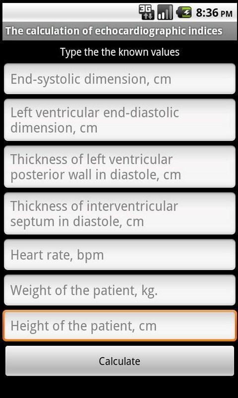 Echocardiography- screenshot